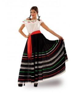 Disfraz de mexicana para mujer  Modelo-Único Tallas-M-L