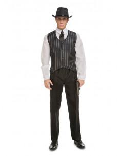 Disfraz de gángster mafioso hombre