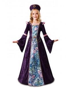 Disfraz doncella morada para niña