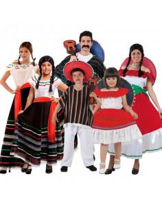 Disfraz de Mexicanos Mariachis en grupo