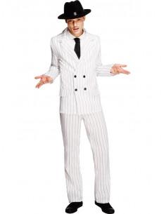 Disfraz de gángster blanco para adulto