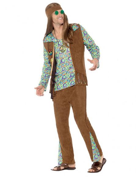 Disfraz hippie años 60 lateral