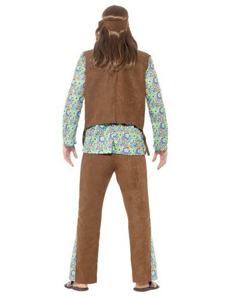 Disfraz hippie años 60 trasera