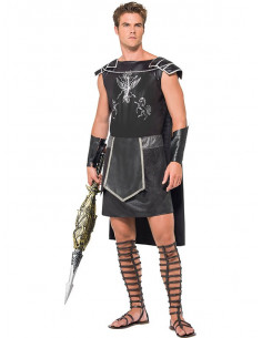 Disfraz gladiador negro para hombre