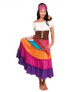 Disfraz zíngara Esmeralda para mujer