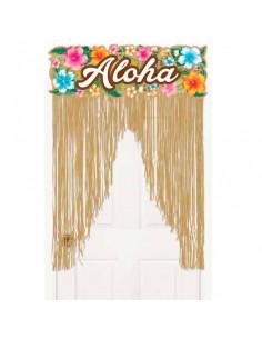 Decoración hawaiana para puertas