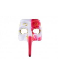 Antifaz veneciano narigudo bicolor rojo