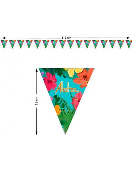 Banderines para fiesta hawaiana