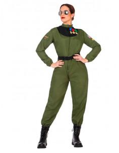 Disfraz de piloto militar para mujer