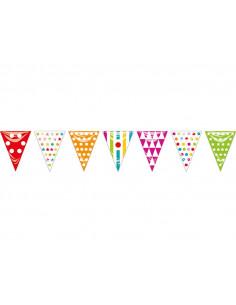 Banderín triangular de colores plástico