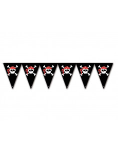 Banderines de calavera pirata