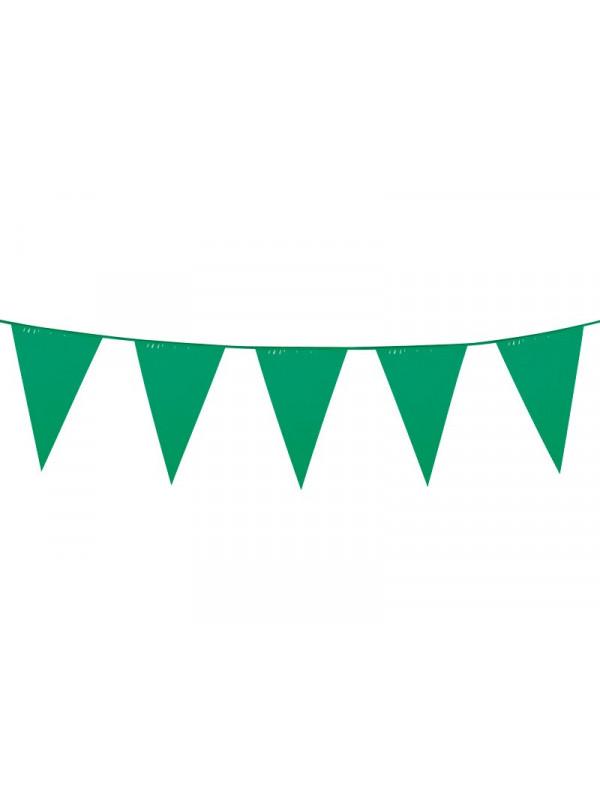 Banderín triangular verde
