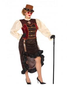 Disfraz Steampunk para mujer talla grande