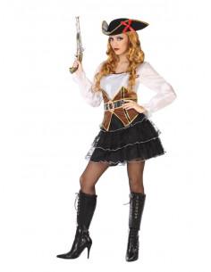 Disfraz de pirata sexy mujer