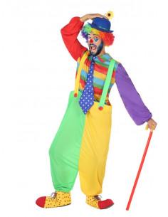 Disfraz de payaso arco iris hombre