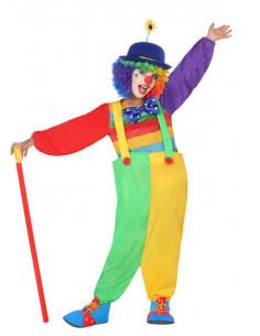Disfraz de payasita iris para niña