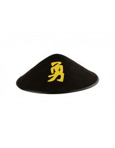 Sombrero chino con letra negro