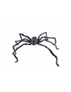 Araña peluda con luz