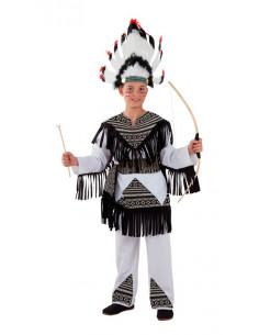 Disfraz indio cherokee para niño  Modelo-Único Tallas-12 años