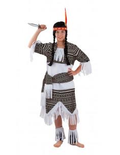 Disfraz India cherokee para niña  Modelo-Único Tallas-12 años