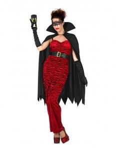 Disfraz de vampira elegante mujer  Modelo-Único Tallas-XL