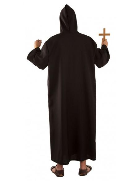 Disfraz fraile adulto negro trasera