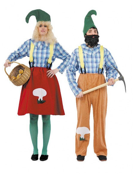 Disfraz en Pareja de Elfos Granjeros