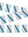 Bandera plástico de Galicia