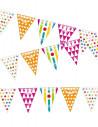 Banderín triangular de colores