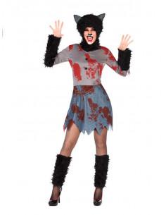 Disfraz hombre Lobo para mujer  Modelo-Único Tallas-M-L