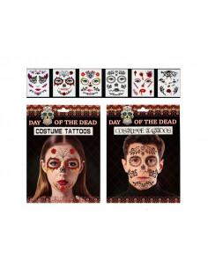 Tatuajes de Halloween para cara