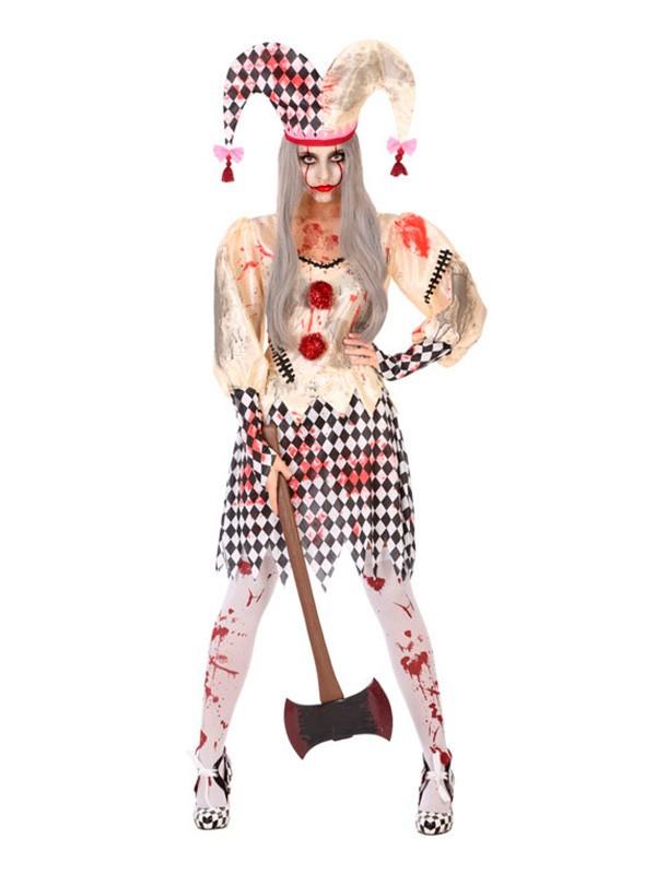 Disfraz de Arlequín asesino para mujer