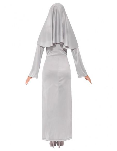 Disfraz de monja diabólica para mujer trasera