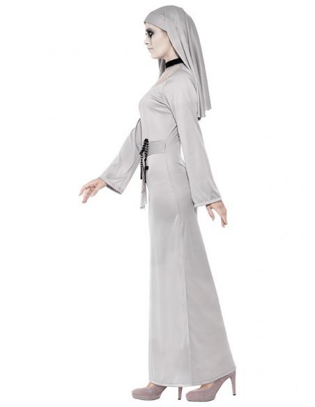 Disfraz de monja diabólica para mujer perfil