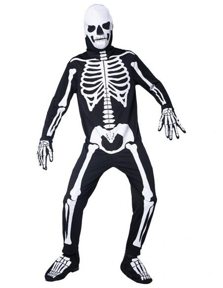 Disfraz de esqueleto que brilla para adulto