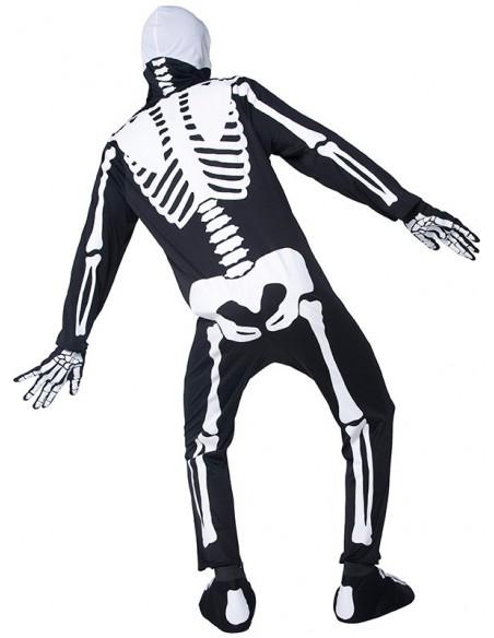 Disfraz de esqueleto que brilla para adulto tasera