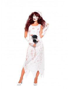 Disfraz de novia zombie para mujer  Tallas-XS