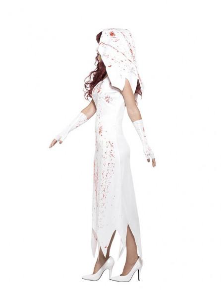 Disfraz de novia zombie para mujer perfil