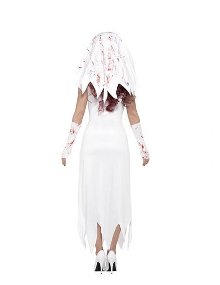 Disfraz de novia zombie para mujer trasera
