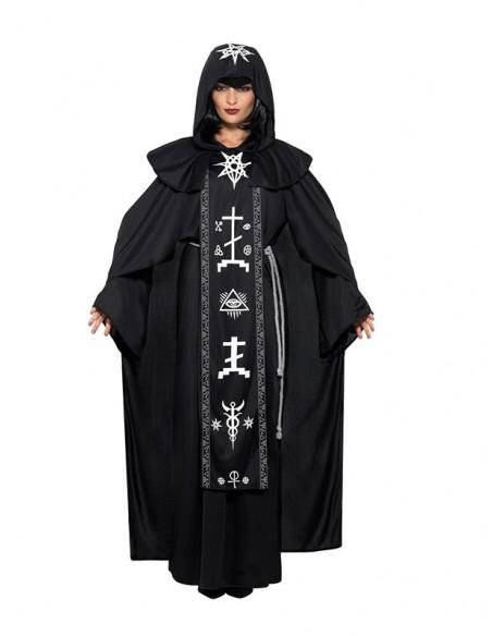 Disfraz de sacerdote de las artes oscuras unisex mujer