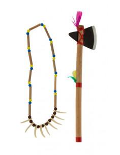 Set indio con hacha y collar