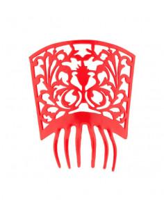 Peineta española grande roja