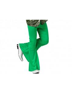 Pantalón de campana disco para hombre verde