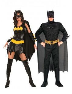 Disfraz en pareja de Batman y Batgirl