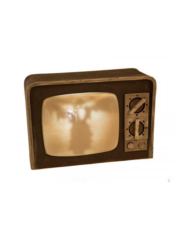 Televisor antiguo con luz y sonido
