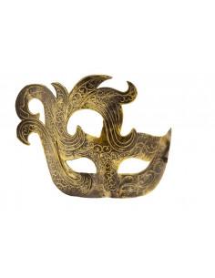Antifaz veneciano de Carnaval oro