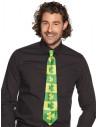 Corbata verde con tréboles
