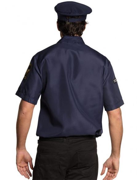 Camisa de policía trasera