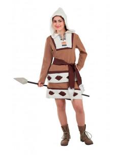 Disfraz esquimal marrón para mujer  Tallas-M