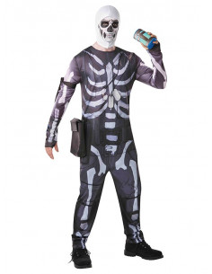 Disfraz de Fornite Skull Trooper adulto